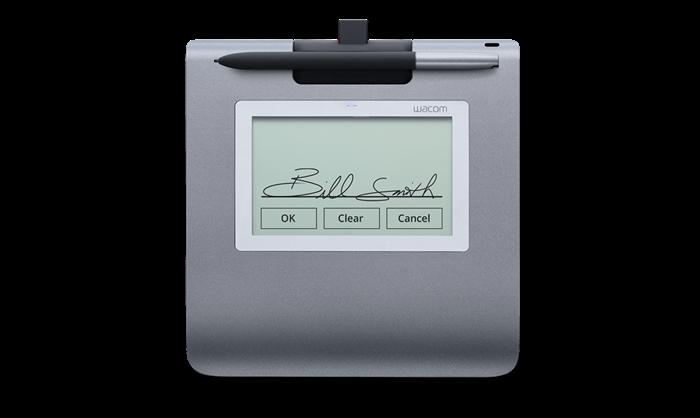 最近増加中の電子サインパッド(付属のペンでサイン記入)