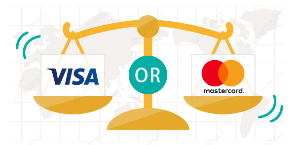 VisaとMastercardの使い勝手はほぼ一緒