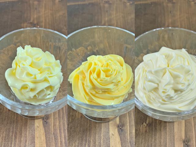 三種類のバタークリーム