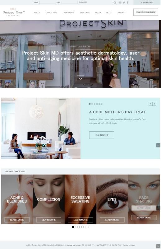 Project Skinサイトの画像