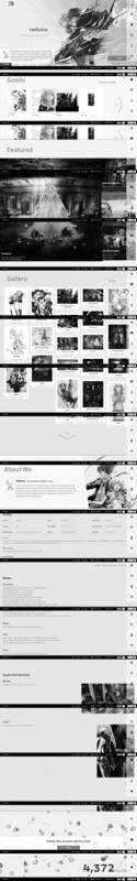 redjuiceのサイト(モノクロ)の画像