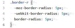 Compass Border Radius