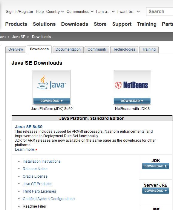 Java DLページ