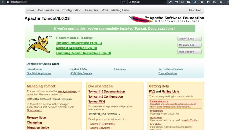 ブラウザで「http://localhost:8080/」でアクセスできる