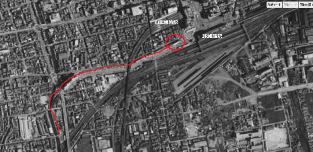 1967年姫路駅前航空写真