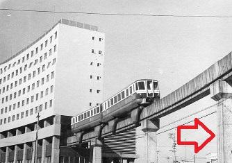 姫路モノレール大将軍駅と公団団地