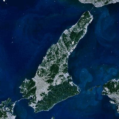 淡路島の全景淡路弁