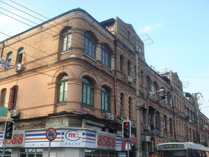 上海の日本租界長治路の大日本航空会社オフィス跡