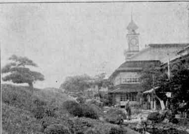 洲崎遊郭大八幡楼の時計台