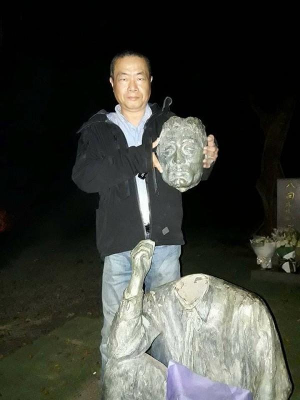 八田與一の像の首を切り落とした李承龍