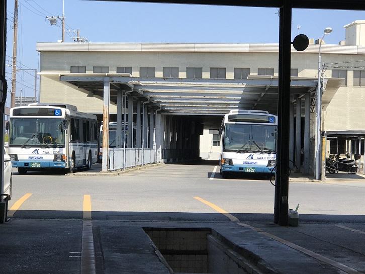 現在の洲本駅ホーム付近