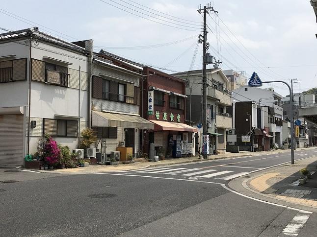 洲本の笹屋食堂がある交差点の50年後
