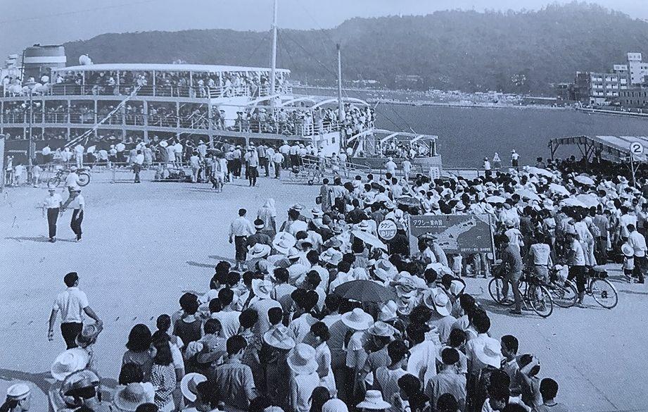 戦後の洲本港の賑わい