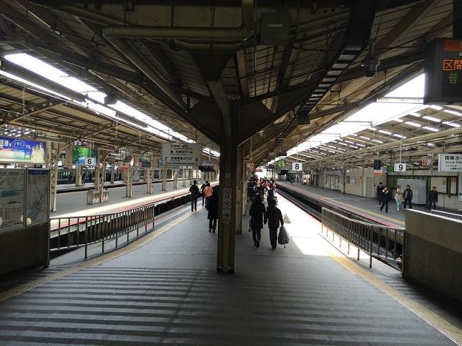 阪和線天王寺駅7番線ホーム