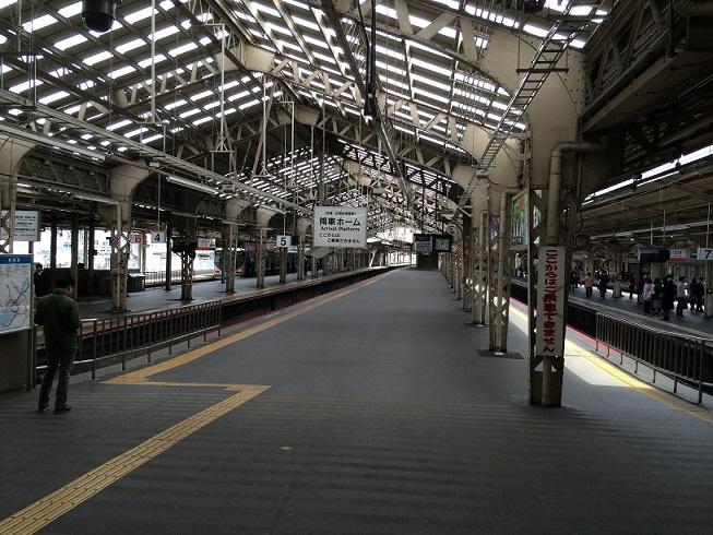 阪和線天王寺駅5-6番線ホーム