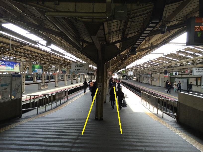 阪和線天王寺駅。この下に戦前の地下通路があるかも