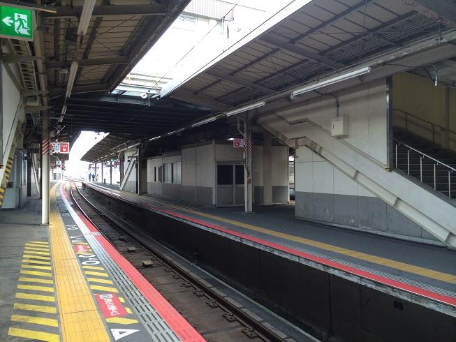 JR天王寺駅阪和線ホーム謎の小屋
