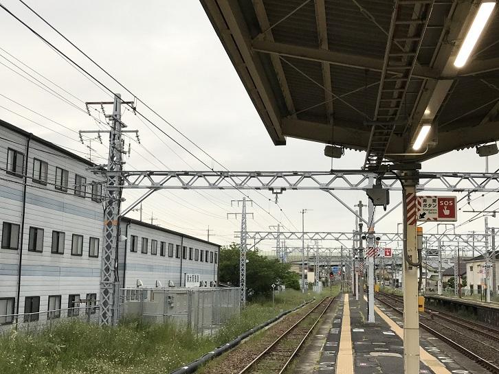 長滝駅に残る阪和電鉄時代の架線柱1