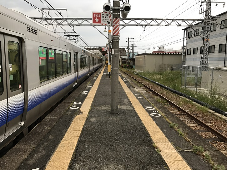 長滝駅ホーム