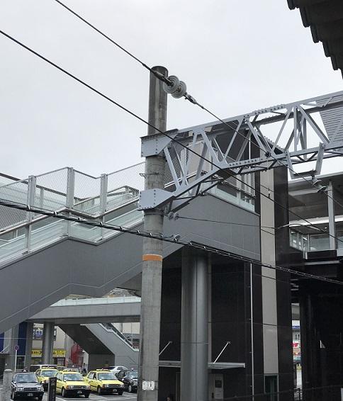 阪和線の架線柱