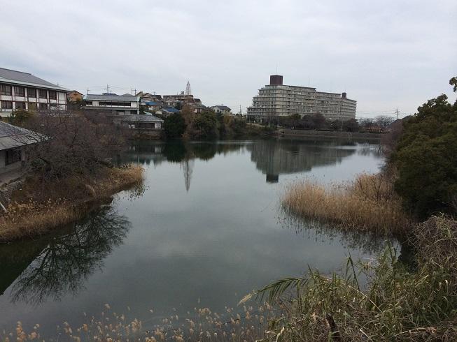 砂川遊園跡に今も残る池