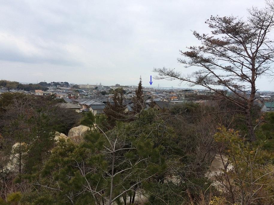 砂川奇勝のてっぺんからの風景