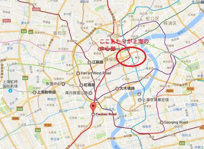 漕宝路駅(漕宝路站)の位置