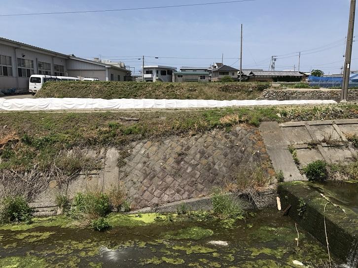 淡路島の鉄道跡(淡路交通)賀集駅付近