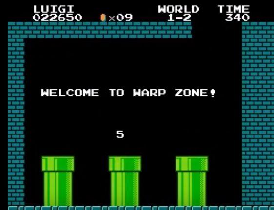 スーパーマリオ1-2のワープゾーン