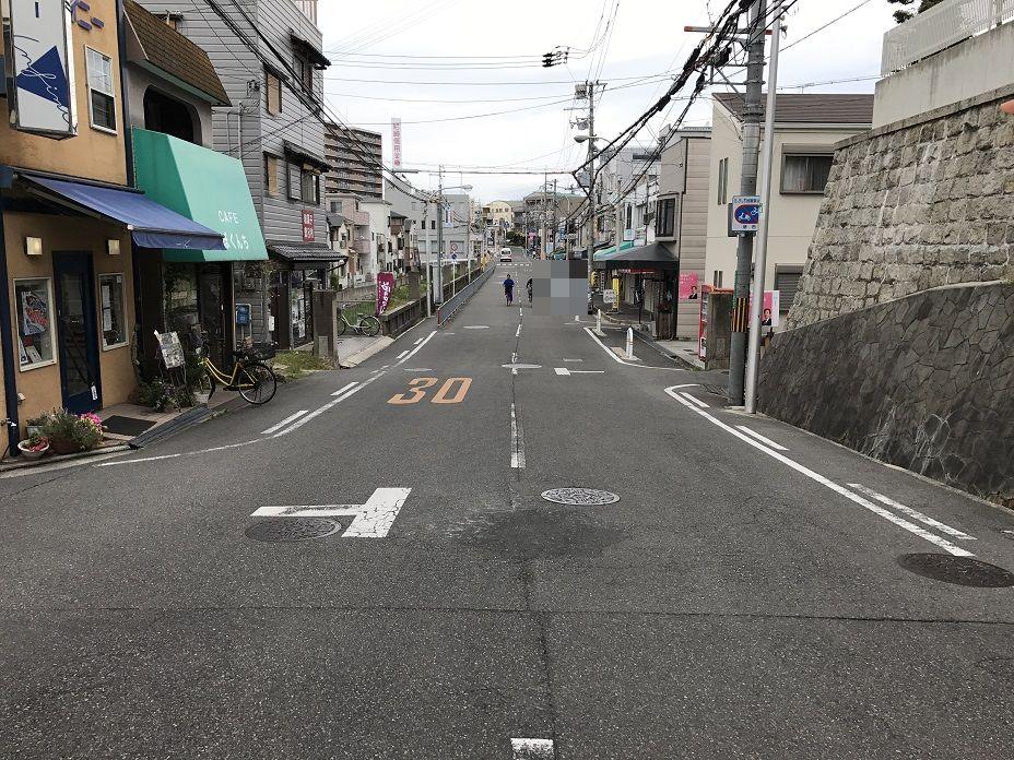 現在の上野芝向ヶ丘町と月見橋の跡