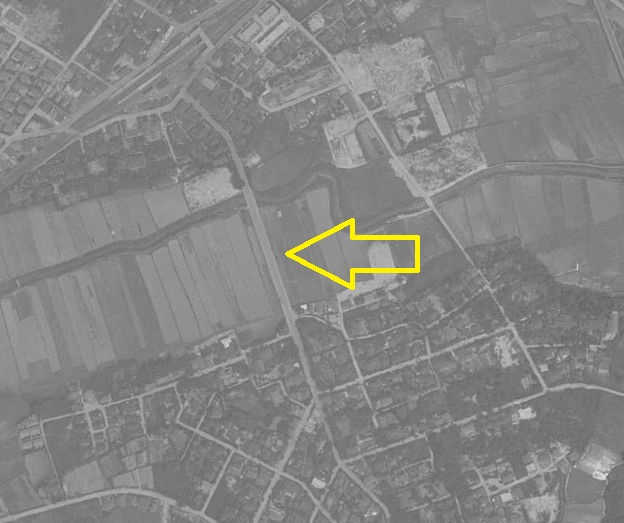 昭和36年1961年上野芝駅周辺と月見橋航空写真