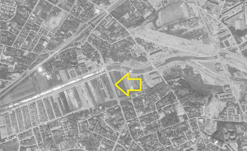 昭和46年1971年上野芝駅周辺と月見橋航空写真