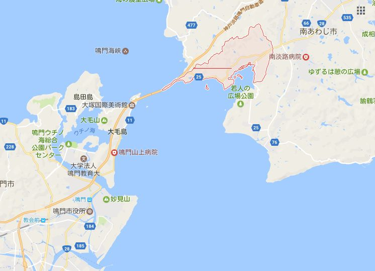 淡路島福良の位置