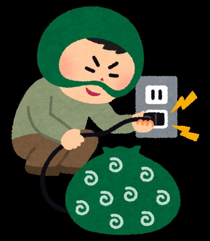 電気窃盗罪