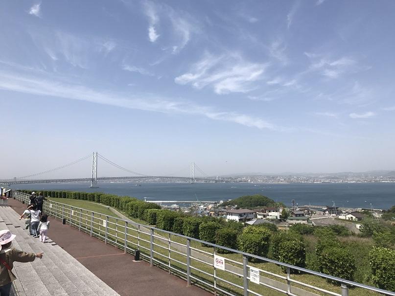 淡路島と明石海峡大橋
