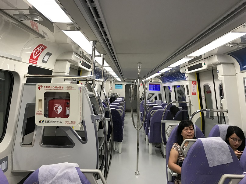 桃園空港MRT直達車車内