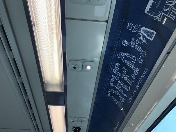 桃園空港MRTの読書灯