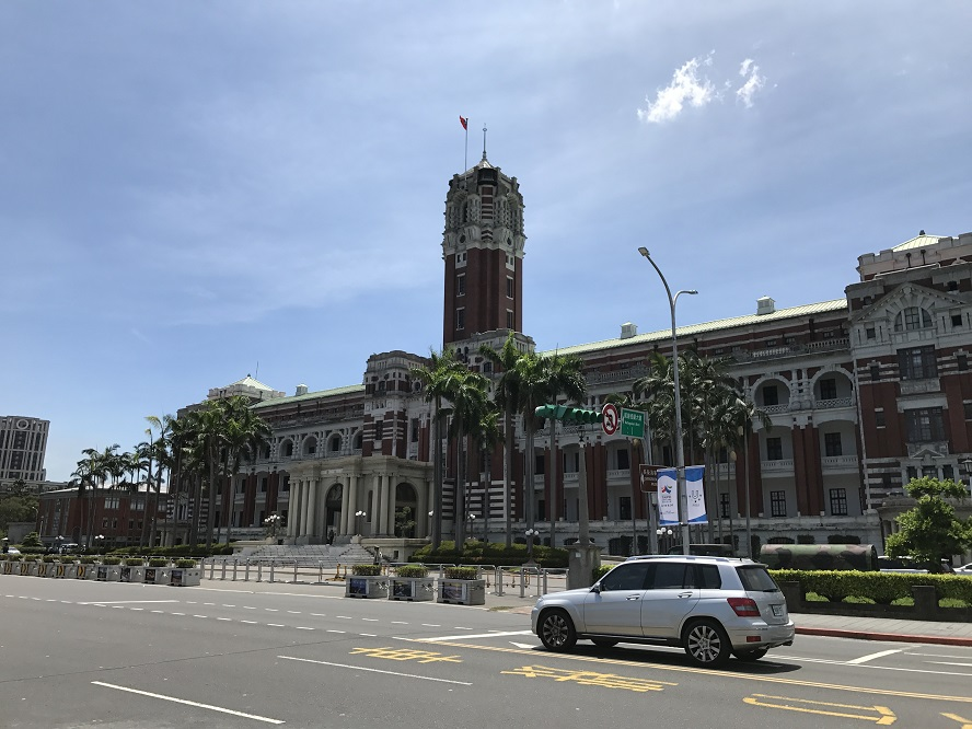 2017年8月台北総統府(旧台湾総督府)