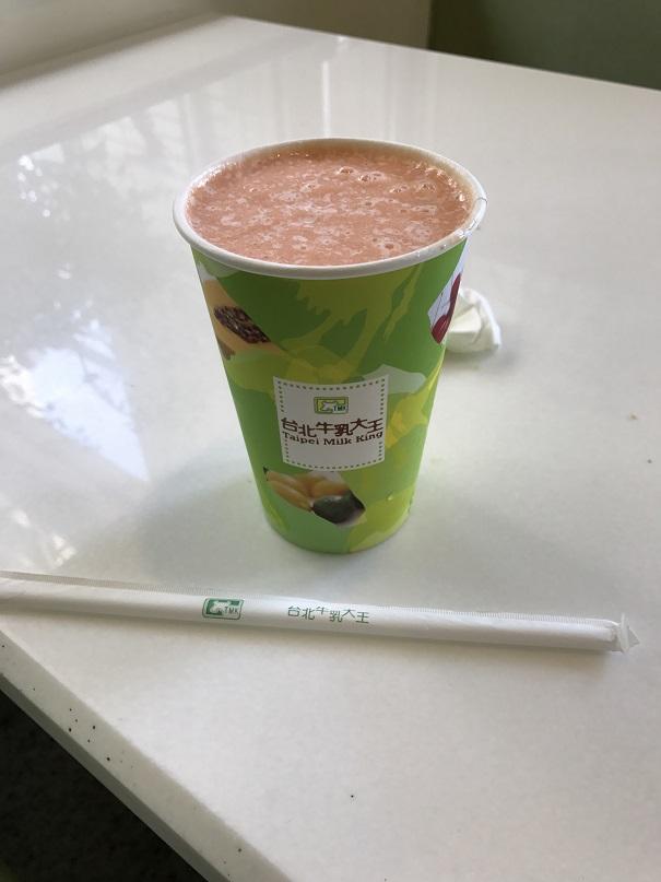台北牛乳大王のパパイヤミルクジュース