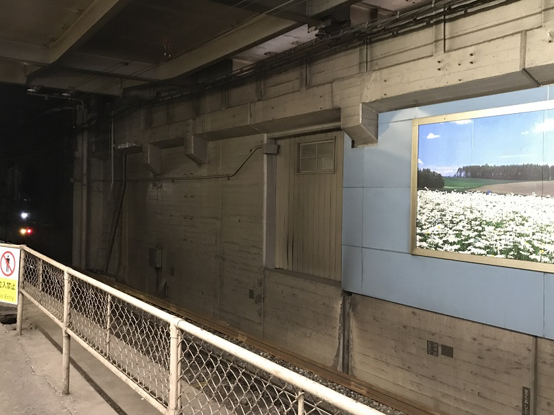 阪和線と城東線(大阪環状線)連絡通路跡