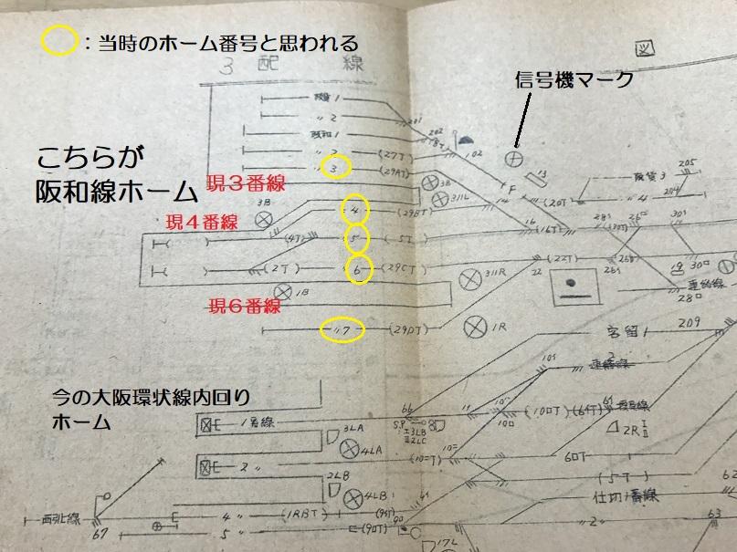 昭和29年天王寺駅勢要覧より。配置図