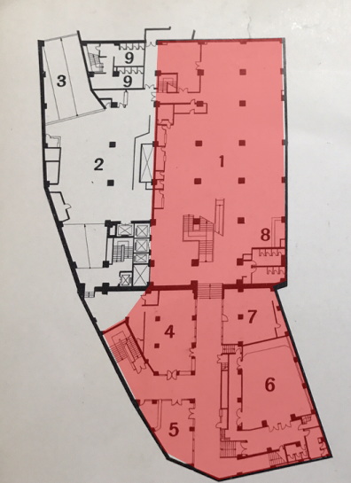 昭和37年天王寺ステーションビル地下1階の図