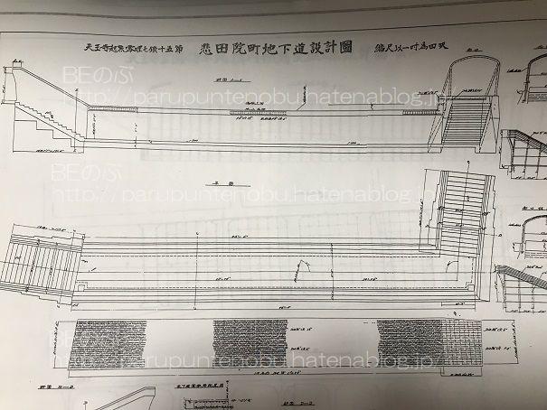 悲田院町地下道設計図