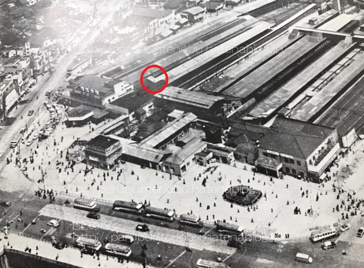天王寺ステーションビルが出来る前の天王寺駅全景
