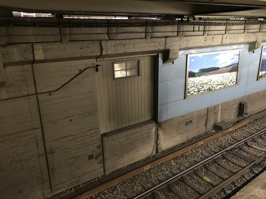 天王寺駅11番線にある阪和線との連絡通路跡