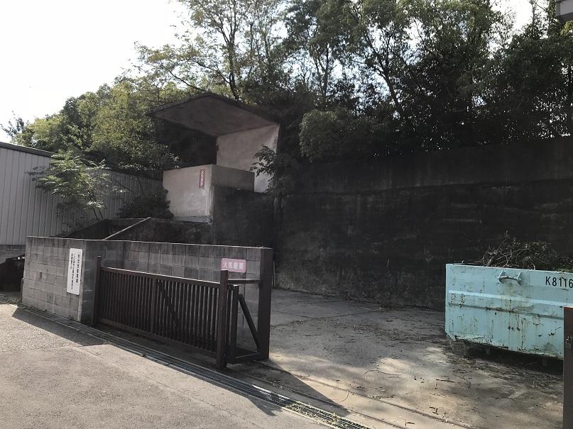 大阪市立経済学部横にあるゴミ集積場