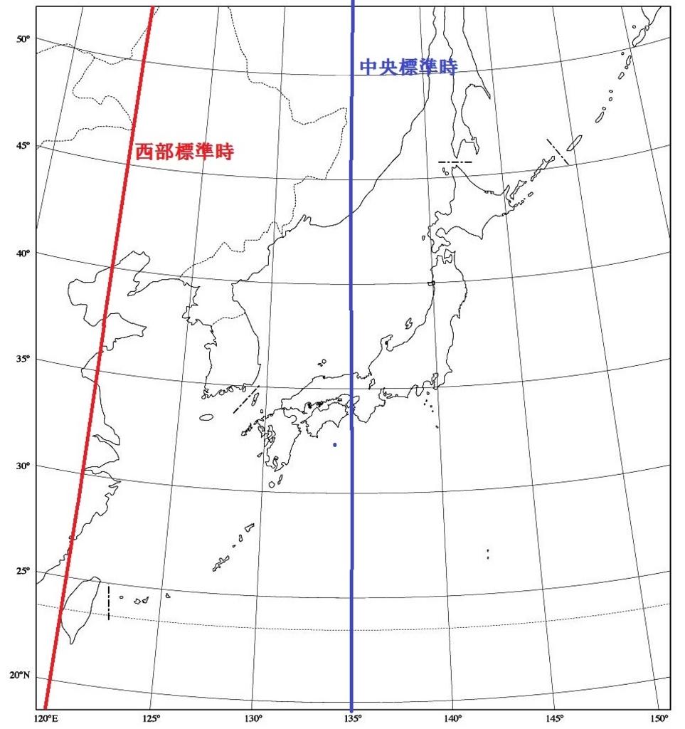 西部標準時日本八重山諸島宮古島台湾