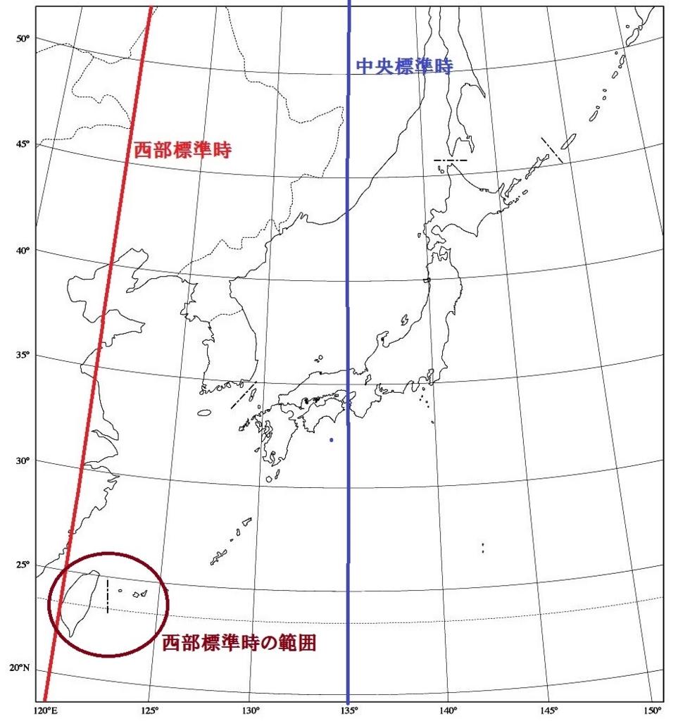 西部標準時日本統治時代台湾