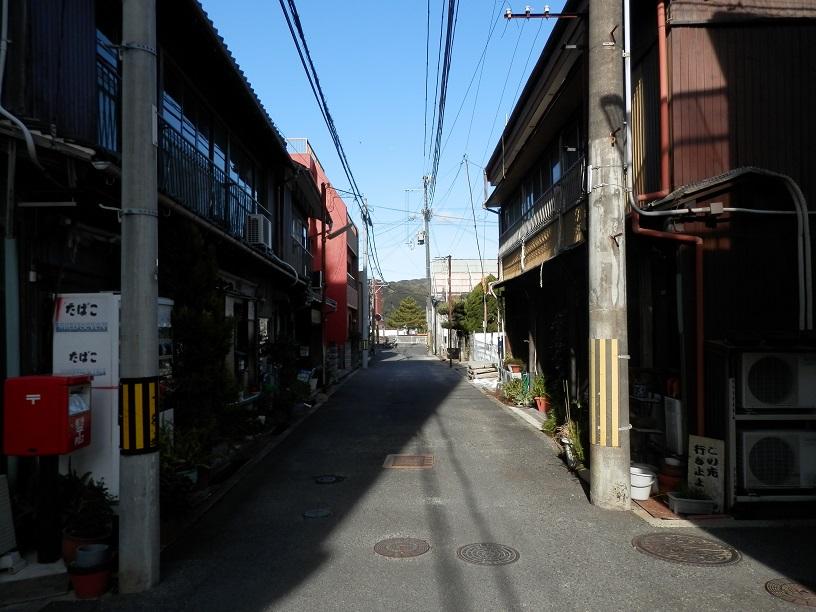 旧洲本遊郭の通り
