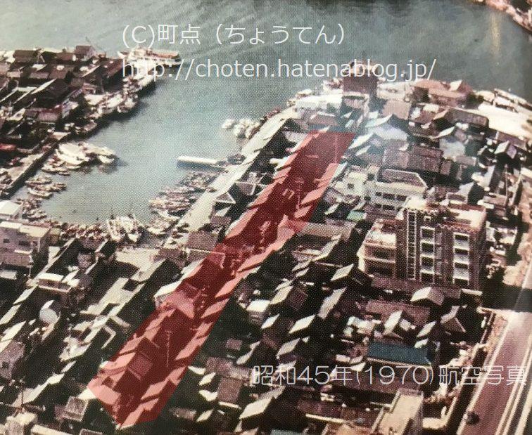 旧洲本遊郭跡俯瞰写真昭和40年代